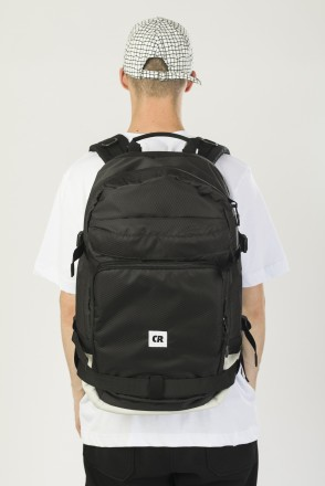 Tour Backpack Black Oxford/Light Gray Art.Leather
