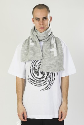 Scarf Cyrillic Light Gray Melange