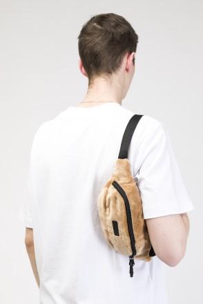 Сумка поясная Hip Bag Бежевый Мех