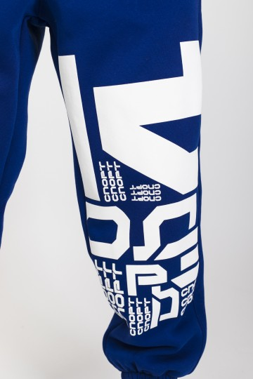 Trainer Pants Cornflower Blue Letter Kit
