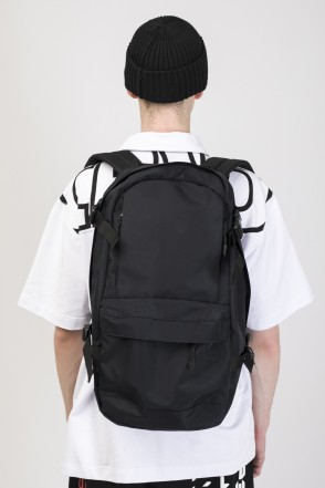 Action Backpack Black Taslan/White print КОДРЭД