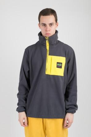 Fever Fleece Sweatshirt Dark Gray/Yellow