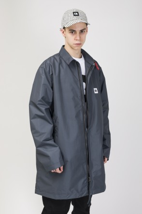Trench Coat Dark Gray Membrane