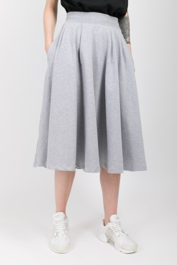 Юбка Sun Skirt Серый Меланж