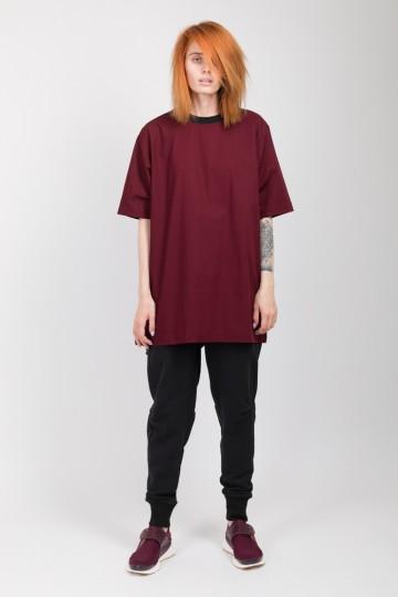 Футболка-платье T-dress COR Бордовый Темный