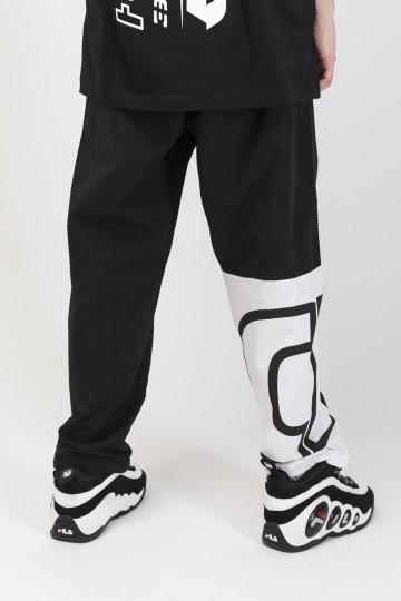 Штаны Knee Cut Черный/Белый