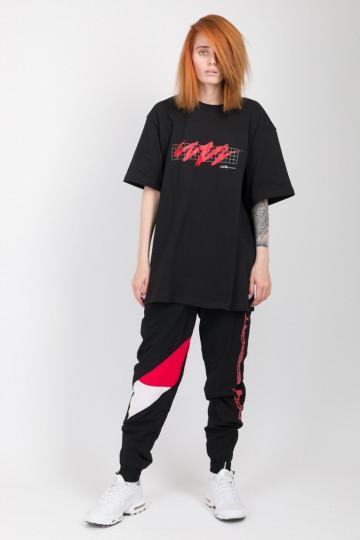 Zig Zag Mesh T-shirt Black