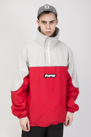 Space Pull Windbreaker Gray/Red