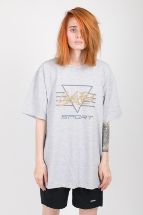 Triangle Logo T-shirt Dark Gray Melange
