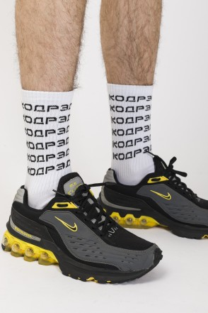 6 Logo Sock Socks White/Black Logo