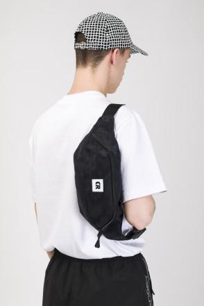 Hip Bag Large Black Art. Suede