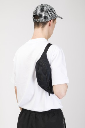 Hip Bag Black Canvas