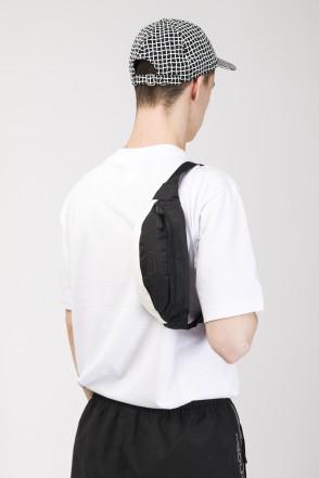 Hip Bag Black Taslan/White Art.Leather