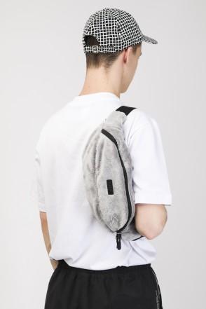 Hip Bag Large Ligt Gray Fur