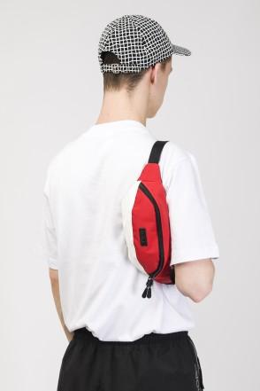 Hip Bag Red Taslan/White Art.Leather