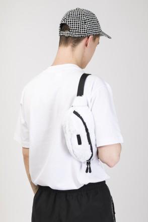 Hip Bag White Fur