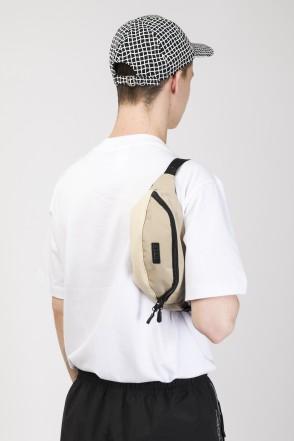 Сумка поясная Hip Bag Бежевый Таслан/Бежевый Кожзам