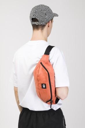 Hip Bag Large Coral Dark Art. Suede
