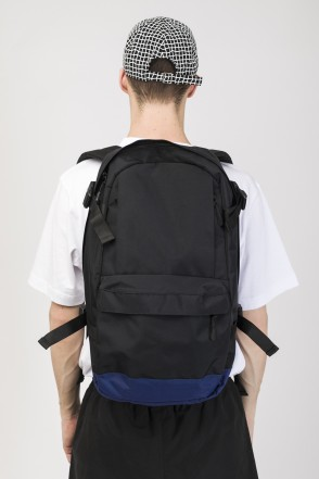 Action Backpack Black Taslan/Dark Blue Taslan print КОДРЭД