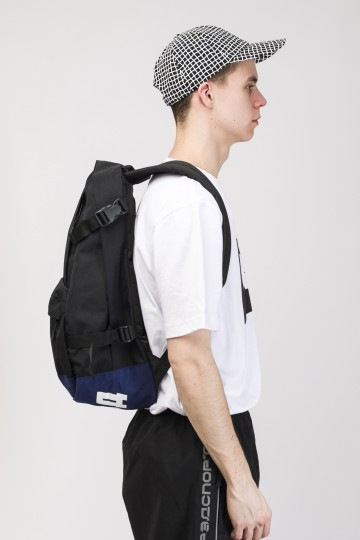 Action Backpack Black Taslan/Dark Blue Taslan print КОДРЭД