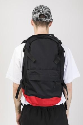 Рюкзак Action Черный Таслан/Красный Таслан принт КОДРЭД
