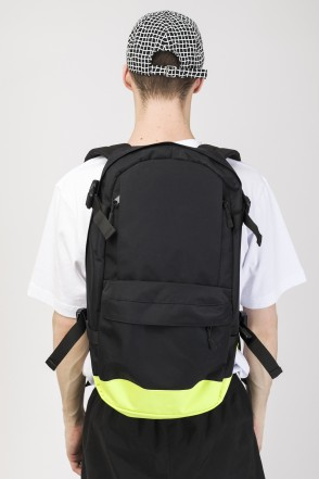 Action Backpack Black Taslan/Lemon Taslan print КОДРЭД