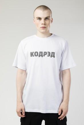 Футболка Regular Cyrillic Logo Reflective Белый