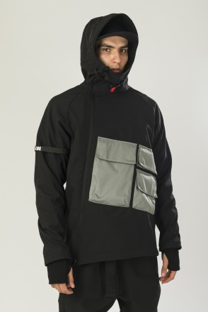 Ank Shell 4 NFC COR Anorak Black\Gray