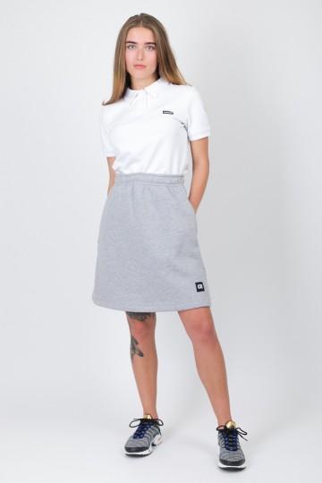 Юбка Simple Skirt Светло-серый Меланж