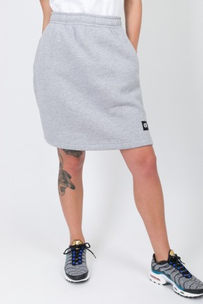 Simple Skirt Gray Melange