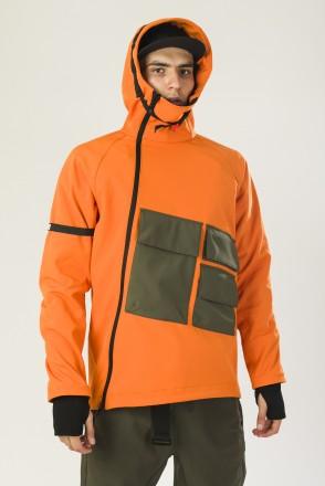 Ank Shell 4 NFC COR Anorak Orange\Bog Green