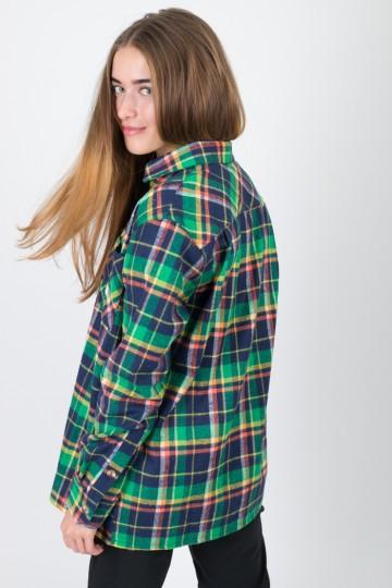 Рубашка Harbor Lady Зеленый Яркий/Синий Чернильный/Оранжевый/Горчичный