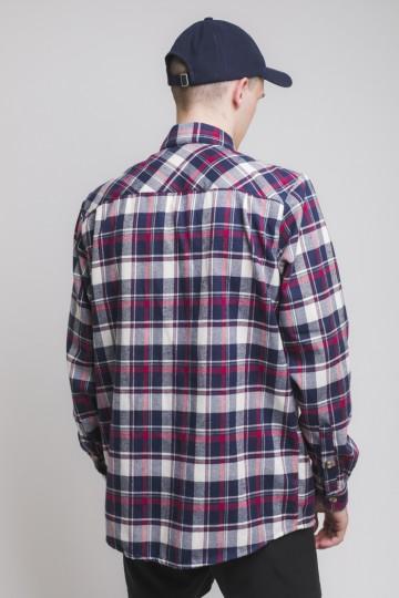 Рубашка Harbor Синий Чернильный/Молочный/Красный