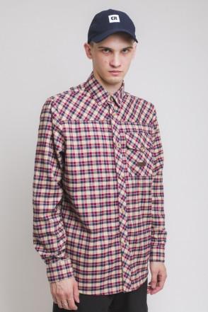 Рубашка Harbor Бежевый Светлый/Синий Чернильный/Бордовый
