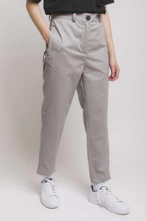 Chino Lady Trousers Light Gray