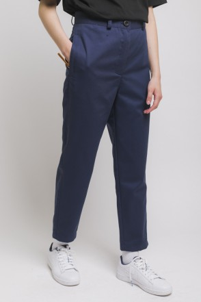Chino Lady Trousers Ink Blue