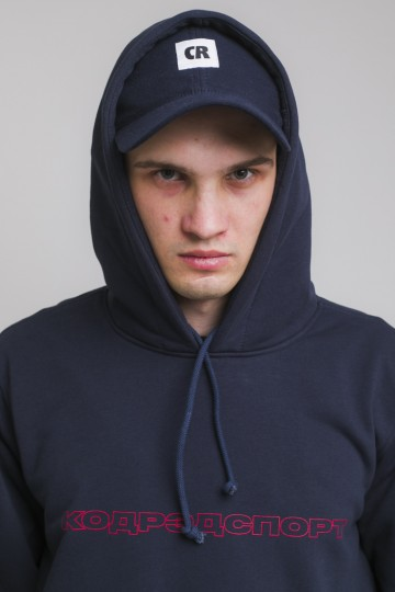 Толстовка Hood Up Summer Нэви Outline Sport Cyrillic