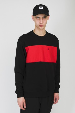 Block Summer Crew-neck Black/Light Red