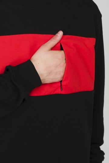 Крюнек Block Summer Черный/Красный Светлый