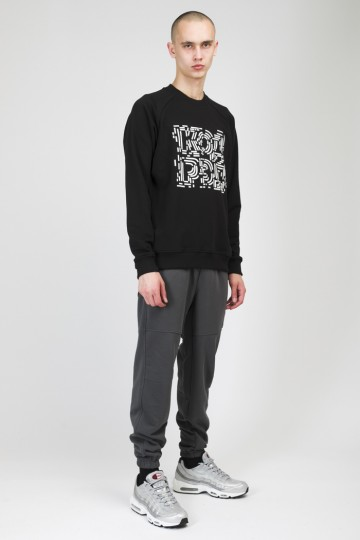 Firm Summer Crew-neck Black Chaos Lines Cyrillic
