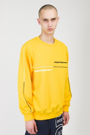 Piping Crew 2000 Crew-neck Warm Yellow/Black/White