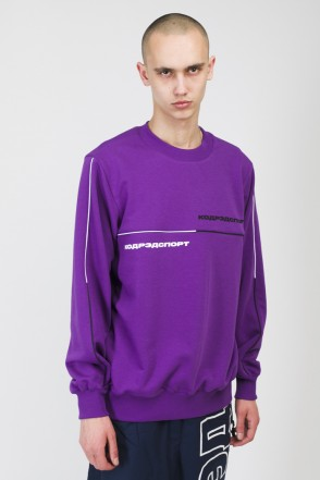 Piping Crew 2000 Crew-neck Violet/Black/White