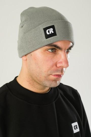 Шапка Label Серый