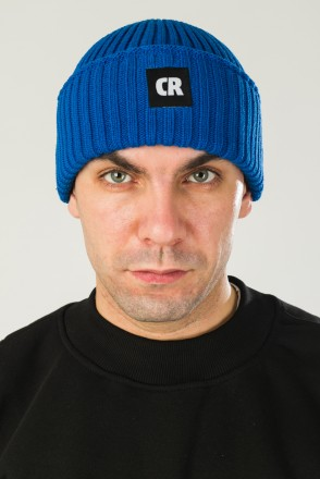 Rib Mix Hat Cornflower Blue