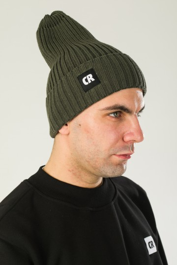 Rib Mix Hat Bog Green