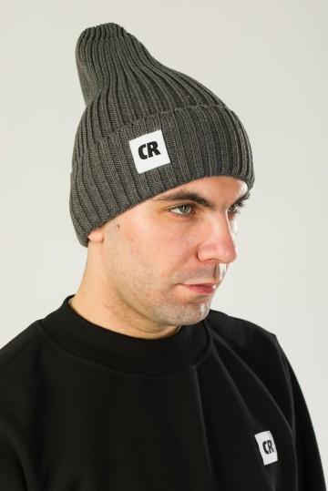 Шапка Rib Mix Темно-Серый Меланж