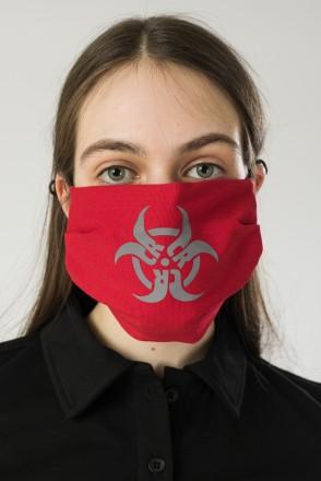 Biocrazzard Face Mask Red