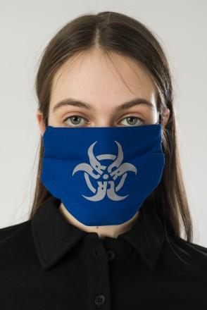 Biocrazzard Face Mask Blue