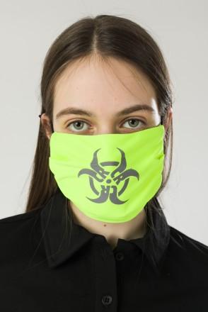Biocrazzard Face Mask Fluorescent Lemon