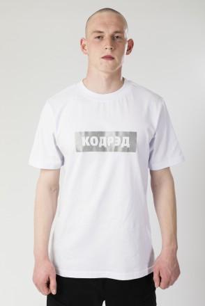Regular Cyrillic Box Reflective T-shirt White
